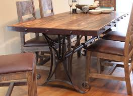 Copper Dining Room Tables Rustic Distressed Dining Table Pine Copper Sam Levitz Furniture
