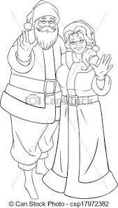 vector santa claus waving hands christmas coloring
