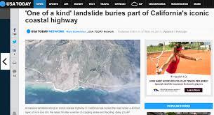 Pacific Coast Preferred Comfort Massive Landslide Destroys Pacific Coast Highway 1 In Rural