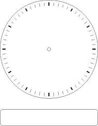 printable clock template without numbers gallery for blank clock face without numbers clipart library
