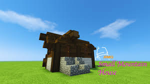 Small House Minecraft Minecraft 15 Minute Build Small Mountain House Youtube