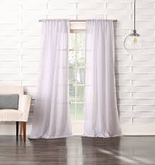 63 White Curtains No 918 Tayla Crushed Sheer Voile Rod Pocket Curtain