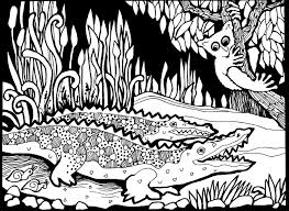 africa crocodiles africa coloring pages adults justcolor