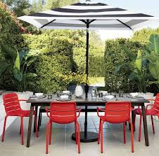 Patio Sets With Umbrellas by Patio Furniture And Decor Trend Bold Black And White