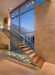 Buy Banister Tempered Glass Railing Interior Wood Stairs Straight Stair Buy