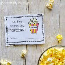 senses popcorn preschool observation mini book