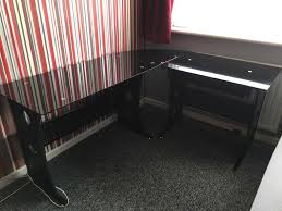 black glass computer corner desk in bodmin cornwall gumtree