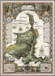 Map Of Pennsylvania Pictorial Map Of Frick Park Pittsburgh Pennsylvania David