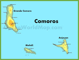 map comoros comoros maps maps of comoros the comoro islands