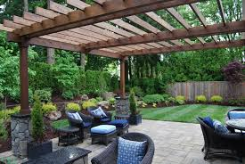 pergola with trellis traditional patio with outdoor seating area by all oregon
