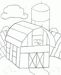 farm colouring page