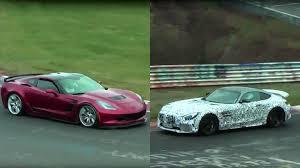 gtr or corvette chevrolet corvette z06 vs mercedes amg gt r at the nürburgring