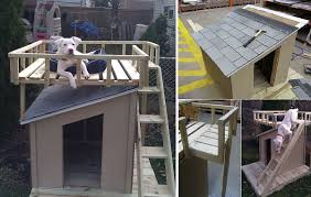 Free Online Deck Design Home Depot Diy Dog House With Roof Top Deck Home Design Garden