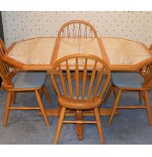 expandable kitchen table with tile top and four chairs ebth
