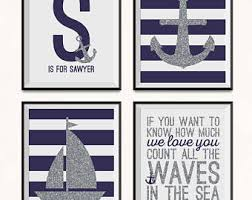 Items Similar To Love Anchors - items similar to anchor nursery prints four piece set nautical