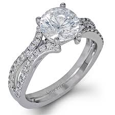 engagement rings engagement ring settings simon g engagement rings 0 41ctw accent diamond setting