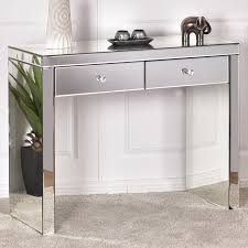 bedroom console table giantex silver mirrored console table home vanity dressing make up