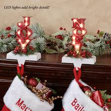 Stocking Marquee Led Stocking Holder Set By Roman