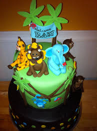 jungle themed baby shower cake cakecentral com
