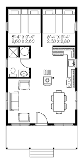 plan one room cottage plans