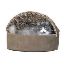 k u0026h pet products thermo kitty deluxe large mocha leopard hooded