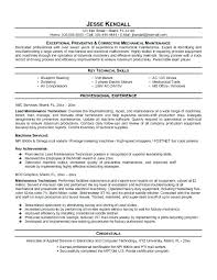 maintenance technician resume maintenance technician resume print for exle aircraft