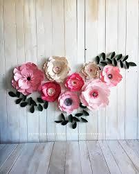 Pink Peonies Nursery Paper Flowers Baby Nursery Room Paper Flowers Wall Decor