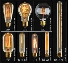 light bulbs awesome antique filament led bulbs design ideas