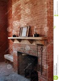 vintage brick fireplace stock photo image of room brown 28836142