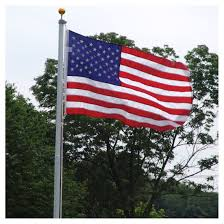 Wall Mounted Flag Pole 20ft Residential Flag Pole W Us Made Nylon Flag