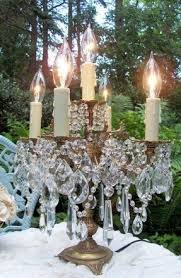 Crystal Chandelier Table Lamp Elegant Table Lamp Crystal Foter