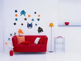wall art pixel art arcade 8 bit sprites vinyl wall decal