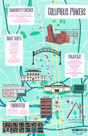 Map Of Franklin County Ohio by Art Builds Columbus Meet The Short North Columbus College Of