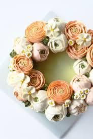 eat cake be merry buttercream flower cake cakes pinterest