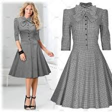 women u0027s vintage 1950 u0027s cocktail party casual business work bowknot