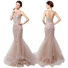 evening gown dress mermaid prom dress tulle beading dress luxury beading