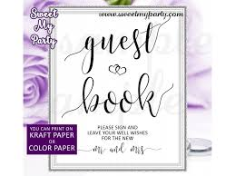 purple wedding guest book wedding guest book sign printable sign our guest book sign