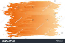 Orange Paint by Abstract Paint Art Brush Watercolor Background Stock Vector
