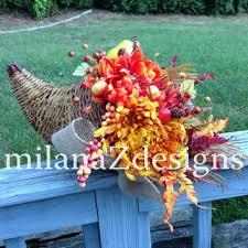 cornucopia decorations xl deco mesh swag wreath from milanazdesigns on etsy