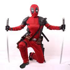 Size Men Halloween Costumes Aliexpress Buy Size Custom Movies 2016 Deadpool Costume