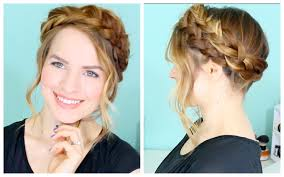how to cut womens hair with double crown how to easy crown braid youtube