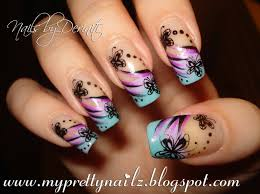 beautiful butterfly tips easy ombre french mani with butterflies