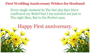 Wedding Quotes To Husband Message For First Wedding Anniversary Tbrb Info