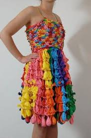 lastic bag prom dress by casey hansel who is only 18 years old