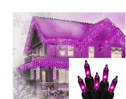 Orange Icicle Lights Halloween by Set Of 100 Purple Mini Icicle Halloween Lights Black Wire
