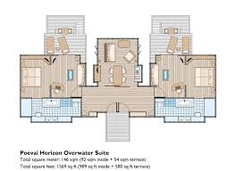 Square Feet To Square Meter Poevai Overwater Suite