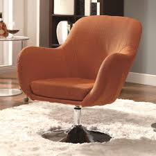 Vintage Swivel Chair Coaster Accent Seating Retro Swivel Chair Coaster Fine Furniture