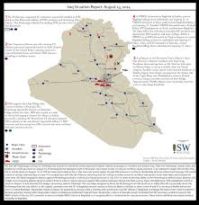 Syria And Iraq Map by Iraq Situation Maps At Institute For The Study Of War
