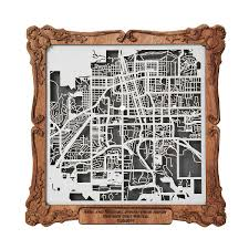 wedding gift map you are here map custom papercut uncommongoods