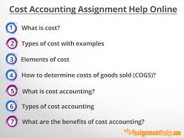 Cost Accounting Assignment Help Online My assignment help